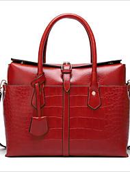 cheap -Women's Zipper PU Top Handle Bag Black / Brown / Red