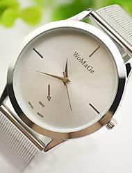 cheap -Couple's Dress Watch Wrist Watch Gold Watch Quartz Gold Casual Watch Lovely Analog Elegant Minimalist - Gold Silver