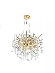 cheap -QIHengZhaoMing 10-Light 60 cm Chandelier Metal Sputnik Brass Traditional / Classic 110-120V / 220-240V
