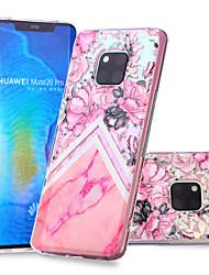 cheap -Case For Huawei Huawei Nova 3i / Huawei P smart / Huawei P Smart Plus Pattern Back Cover Flower / Marble Soft TPU