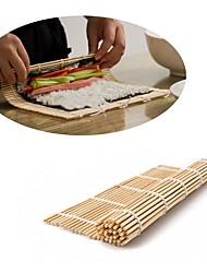 cheap -Japanese Sushi Roll Bamboo Mat Hand Roller DIY Maker Rice Mold 24cm