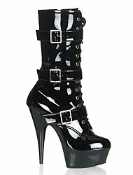 cheap -Women's Boots Sexy Boots Stiletto Heel / Platform Buckle / Lace-up Patent Leather Fashion Boots / Club Shoes Fall / Winter Black / Gray / Wedding / Party & Evening