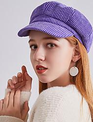 cheap -Women's Vintage Party Wool Tweed Beret Hat Bowler / Cloche Hat Newsboy Cap-Solid Colored Fall Winter Purple Yellow Khaki / Rhinestone
