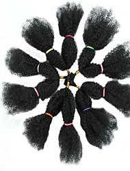 cheap -Crochet Hair Braids Afro Kinky Box Braids Black Synthetic Hair 18 inch Braiding Hair 10pcs