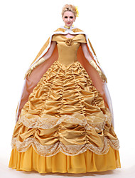 cheap -Bell Cranel Dress Cosplay Costume All Movie Cosplay Vacation Dress Yellow 1 Necklace Headpiece Gloves Christmas Halloween New Year Satin / Ribbons / Petticoat / Cloak / Petticoat / Cloak