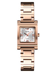 cheap -SKMEI Women's Dress Watch Wrist Watch Gold Watch Quartz Ladies Water Resistant / Waterproof Stainless Steel Silver / Gold / Rose Gold Analog - Rose Gold Blue Pink One Year Battery Life