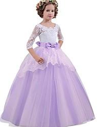cheap -Princess A-Line Slip Vintage Dress Party Costume Flower Girl Dress Girls' Costume Purple / Blue / Pink Vintage Cosplay Sleeveless