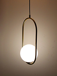 cheap -Circular / Mini Pendant Light Ambient Light Antique Brass Electroplated Metal Glass Eye Protection 110-120V / 220-240V