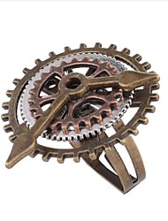 cheap -Women Ring Vintage Style Coffee Alloy Gear Ladies Steampunk Kinetic 1pc Adjustable / Women's