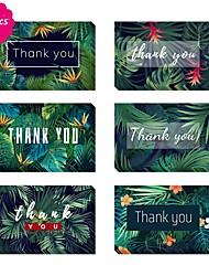 Недорогие -Боковой сгиб Свадебные приглашения Спасибо карты Художественный Чистая бумага