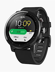 Недорогие -xiaomi huami amazfit smartwatch 2 бегущие часы - кожаный ремешок черный оригинальный чип gps alipay оплата bluetooth 4.2 двунаправленный анти-потерянный