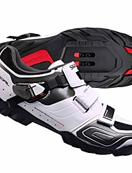 cheap -Mountain Bike Shoes Breathable Cushioning Ventilation Cycling / Bike Cycling Shoes White Black Cycling Shoes / Ultra Light (UL) / Breathable Mesh / Ultra Light (UL)
