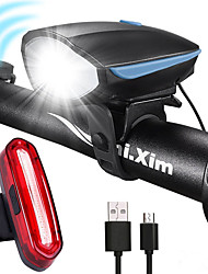 cheap -LED Bike Light Rechargeable Bike Light Set Rear Bike Tail Light Safety Light Mountain Bike MTB Bicycle Cycling Waterproof Anti Fog Super Bright Portable Rechargeable Li-Ion Battery USB 1000 lm White