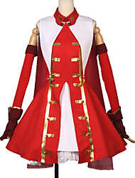 cheap -Inspired by Fate / Grand Order FGO Rin Tohsaka Anime Cosplay Costumes Japanese Cosplay Suits Art Deco Solid Colored Dress Gloves More Accessories For Unisex