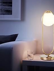 Недорогие -nordic простой настольный светильник стеклянный круглый шар настольная лампа металлический кронштейн свет для спальни кабинет кабинет металл
