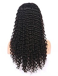 cheap -Remy Human Hair 360 Frontal Wig Asymmetrical style Brazilian Hair Curly Natural Wig 130% Density Party Classic Comfortable 100% Virgin curling Women's Long Human Hair Lace Wig Luckysnow