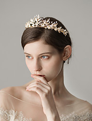 cheap -Alloy Tiaras with Imitation Pearl 1 Piece Wedding / Party / Evening Headpiece