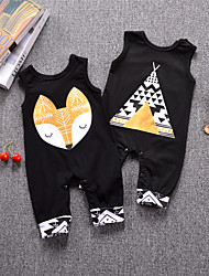 cheap -Baby Boys' Basic Daily Print Printing Sleeveless Cotton Romper Gold / Toddler