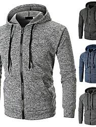 cheap -Men's Running Track Jacket Winter Zipper Classic Black Blue Dark Gray Light Grey Fitness Gym Workout Running Hoodie Top Long Sleeve Sport Activewear Windproof Stretchy Slim