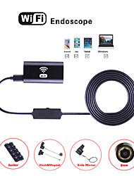 cheap -Wireless WiFi endoscope 8mm 2 million mobile phone computer automobile pipeline endoscope 10m hard wire