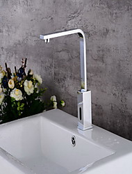 cheap -Bathroom Sink Faucet - Sensor Chrome Free Standing Hands free One HoleBath Taps