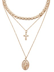cheap -Women's Pendant Necklace Long Necklace Long Ladies Dangling European Sweet Copper Alloy Gold 40 cm Necklace Jewelry 1pc For Gift Date