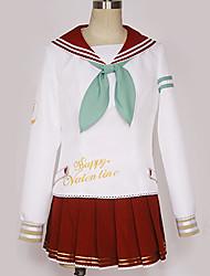Недорогие -Вдохновлен Love Live Косплей Аниме Косплэй костюмы Японский Косплей Костюмы Школьная форма Простой Однотонный Кофты Юбки Костюм Назначение Муж. Жен.