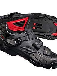cheap -Adults' Mountain Bike Shoes Nylon, Fiberglass, Air-flow vents, Non-Slip tread Breathable Cushioning Ventilation Cycling / Bike Cycling Shoes Black / Red Men's Cycling Shoes / Ultra Light (UL)