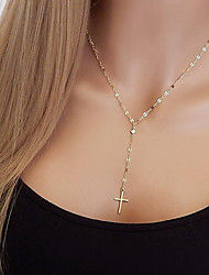 cheap -Women's Choker Necklace Classic Cross Statement Ladies Simple Vintage Silver Plated Gold Plated Alloy Gold Silver 50 cm Necklace Jewelry 1pc For Party Daily