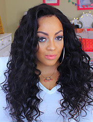 cheap -Remy Human Hair Human Hair 13x6 Closure Deep Part Lace Front Lace Front Wig Deep Parting Side Part style Brazilian Hair Wavy Loose Wave Natural Wig 150% 250% Density with Baby Hair New Arrival Thick