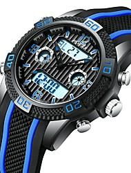 Недорогие -Муж. Спортивные часы Наручные часы электронные часы Японский Японский кварц силиконовый Красный / Желтый / Небесно-голубой 30 m ЖК экран С двумя часовыми поясами Фосфоресцирующий Аналого-цифровые