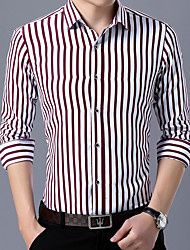 cheap -Men's Wedding Party Daily Basic Shirt - Striped Blue