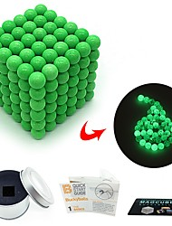 cheap -216 pcs 3mm Magnet Toy Magnetic Balls Building Blocks Super Strong Rare-Earth Magnets Neodymium Magnet Magnet Toy Magnetic Glow-in-the-dark Glow in the Dark Stress and Anxiety Relief Office Desk Toys