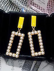 cheap -Women's Drop Earrings Retro Ladies Korean Pearl Earrings Jewelry Gold For Street 1 Pair