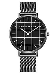 cheap -Women's Wrist Watch Japanese Quartz Stainless Steel Black / Silver Chronograph Cute Creative Analog Ladies Bangle Minimalist - Black Silver Light Black Two Years Battery Life