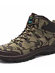 cheap -Men's Fashion Boots PU Winter Casual Boots Warm Booties / Ankle Boots Camouflage Brown / Gray / Outdoor