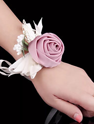 cheap -Wedding Flowers Wrist Corsages Wedding / Wedding Party Silk / Fabrics 0-10 cm