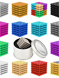 Недорогие -216 pcs 5mm Магнитные игрушки Магнитные шарики Конструкторы Сильные магниты из редкоземельных металлов Неодимовый магнит Неодимовый магнит Магнитный