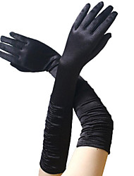 cheap -Audrey Hepburn 1950s Gloves Long Gloves Women's Costume Black / Golden / White Vintage Cosplay Party Prom