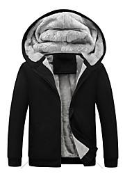 cheap -Men's Plus Size Daily Hoodie Zip Up Hoodie Solid Colored Hooded Streetwear Hoodies Sweatshirts  Long Sleeve Black Blue Red