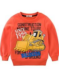 cheap -Kids Boys' Basic Daily Holiday Black & White Print Print Long Sleeve Regular Cotton Hoodie & Sweatshirt Orange