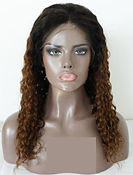 cheap -Virgin Human Hair Remy Human Hair Lace Front Wig Layered Haircut Middle Part Side Part style Brazilian Hair Deep Curly Natural Straight Natural Wig 130% Density Soft Natural Natural Hairline African