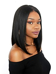 cheap -Dolago Lace Front Human Hair Wigs for Black Women Straight Short Bob Wigs 130% Density with Baby Hair Natural Hairline