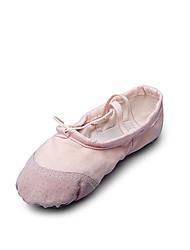 cheap -Women's Dance Shoes Canvas Ballet Shoes Flat Flat Heel Non Customizable Beige / Red / Pink / Indoor / EU40
