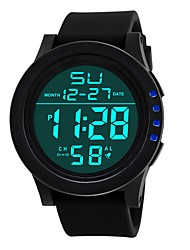 cheap -Men's Digital Watch Digital Black Calendar / date / day Dual Time Zones Noctilucent Digital Fashion - Black Green Blue