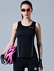 cheap -SANTIC Women's Sleeveless Sports Tank Top Black Sky Blue Solid Color Bike Vest / Gilet Winter Sports Polyester Solid Color Mountain Bike MTB Road Bike Cycling Clothing Apparel / Stretchy