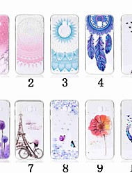 cheap -Case For Samsung Galaxy J8 (2018) / J7 Duo / J7 Prime Transparent / Pattern Back Cover Flower Soft TPU