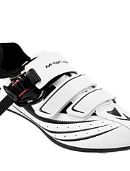 cheap -Adults' Road Bike Shoes Nylon, Fiberglass, Air-flow vents, Non-Slip tread Waterproof Breathable Cushioning Cycling / Bike Cycling Shoes White Men's Cycling Shoes / Ultra Light (UL) / Ventilation