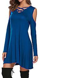 cheap -Women's Daily Basic Loose Sheath Dress Pink Navy Blue Wine XXXL XXXXL XXXXXL