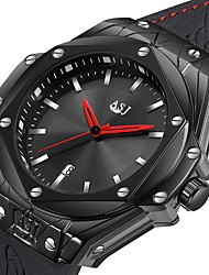 cheap -ASJ Men's Dress Watch Wrist Watch Japanese Japanese Quartz Genuine Leather Black 100 m Water Resistant / Waterproof Calendar / date / day Casual Watch Analog Luxury Classic Fashion - Black Silver